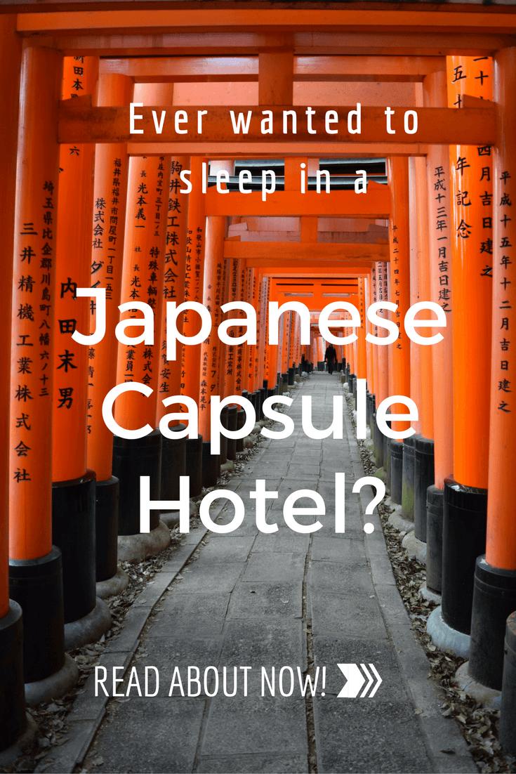 Japanese Capsule Hotel in Kyoto!