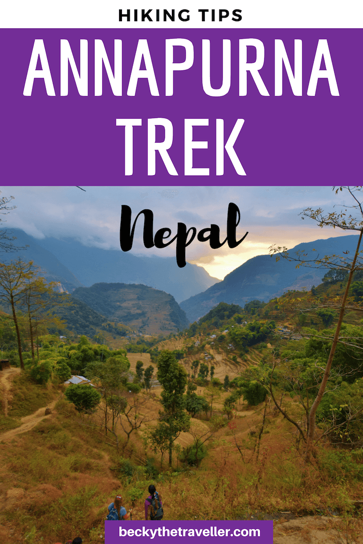 Hiking Annapurna Circuit Trek in Nepal