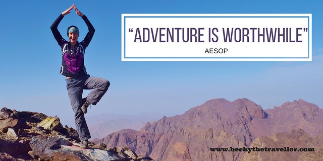 Travel quotes - Adventure is worthwhile