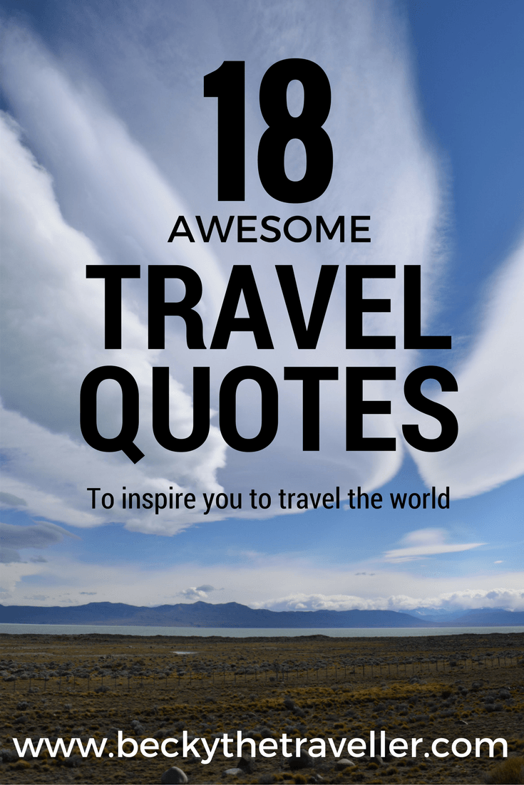 Travel quotes - Inspirational travel quotes - My favourite travel quotes to inspire you to travel. Feel like you need some travel motivation, these will help give you a boost to book that trip! Travel inspiration | Quotes | World traveller