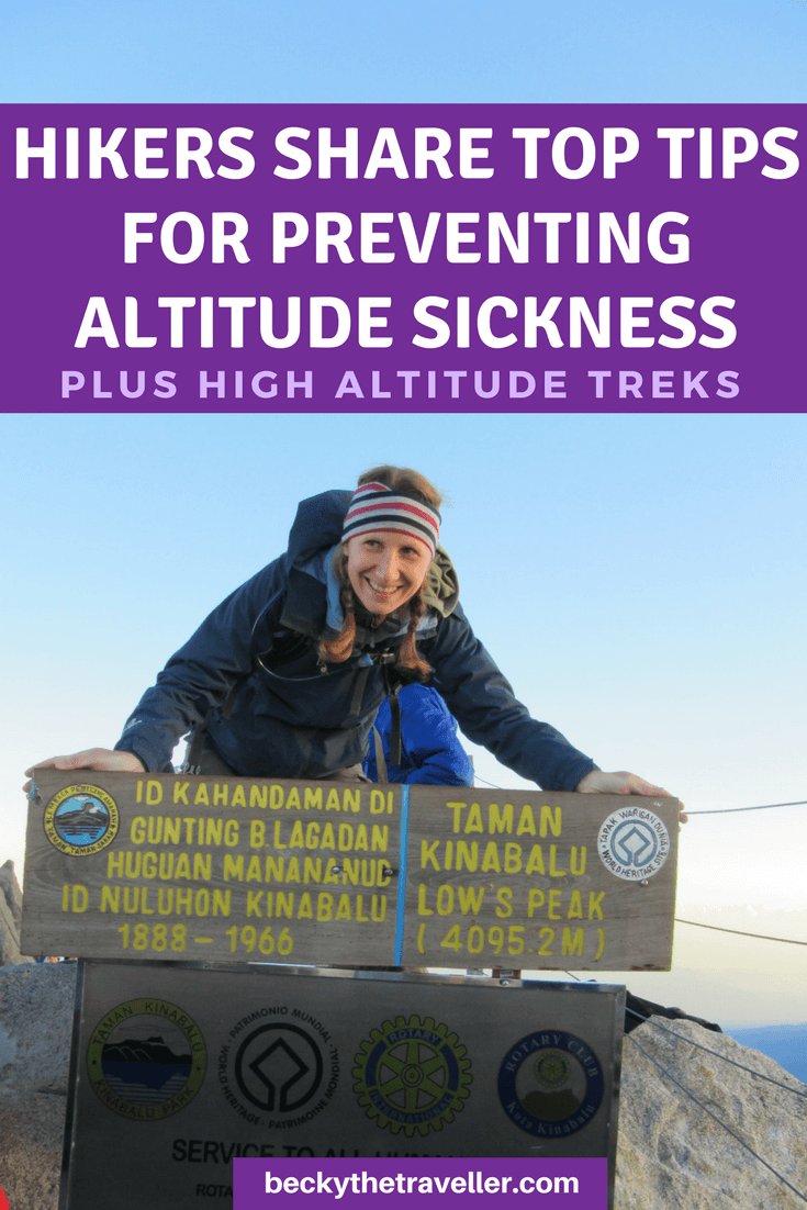 Preventing altitude sickness
