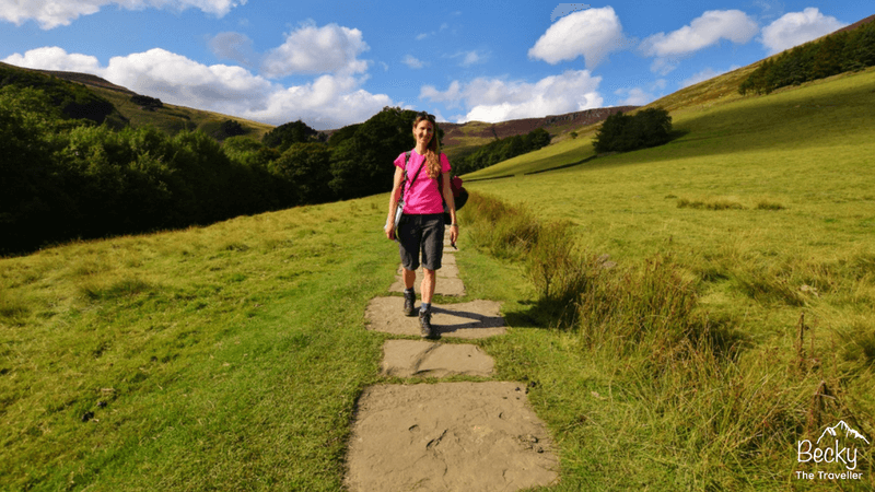 Work with me - Becky the Traveller. Photo take in Edale in the Peak District