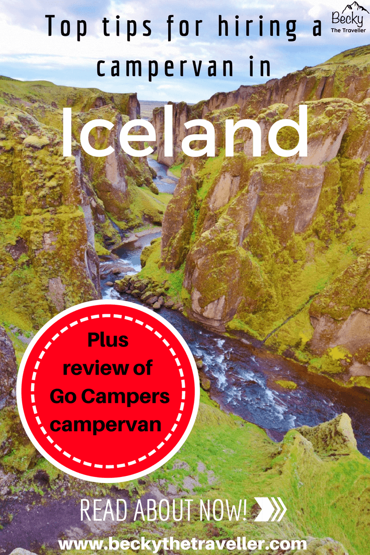Go Campers review - hiring a campervan in Iceland - canyon