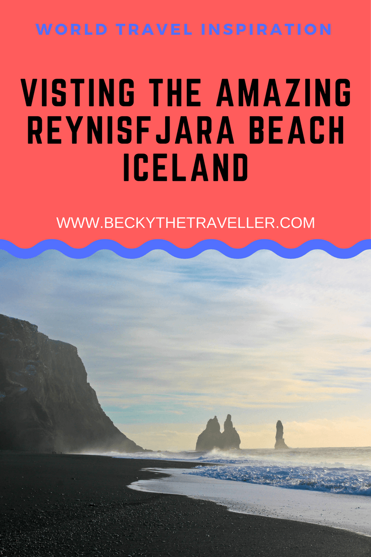 Visit the stunning Reynisfjara beach a few hours from Reykjavik. A must stop for anyone taking a trip to Iceland to see this beautiful natural attraction.