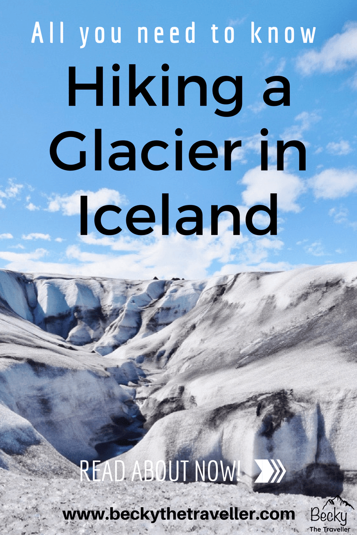 Hiking a glacier in Iceland