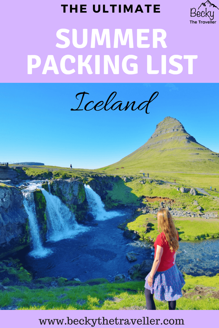 Iceland packing list for summer Iceland