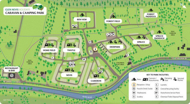 Glen Nevis Campsite map