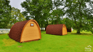 Blair Castle Camping Pods at Blair Castle Caravan Park in Blair Atholl