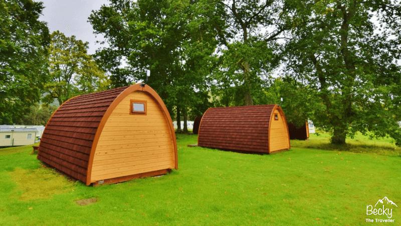 Blair Castle Camping Pods at Blair Castle Caravan Park in Blair Atholl