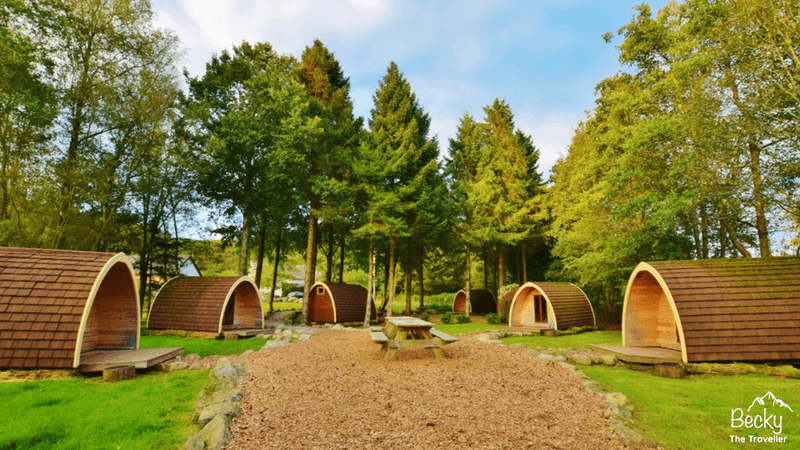Eskdale campsite in the Lake District National Park in the UK. Camping pod review.