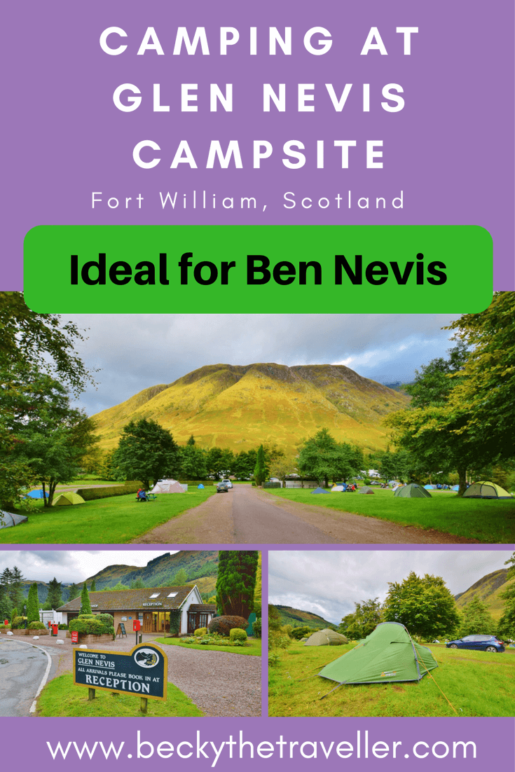 Glen Nevis campsite is a 10-minute walk from the start of Ben Nevis tourist route. And only a couple of miles from Fort William. If you love camping then what better place to stay in Scotland. Read my full review of the campsite and facilities here. Full post to follow on my hike up the UK's highest mountain Ben Nevis! The great outdoors | United Kingdom | Tents | Camping Pods | Caravans | Motorhomes