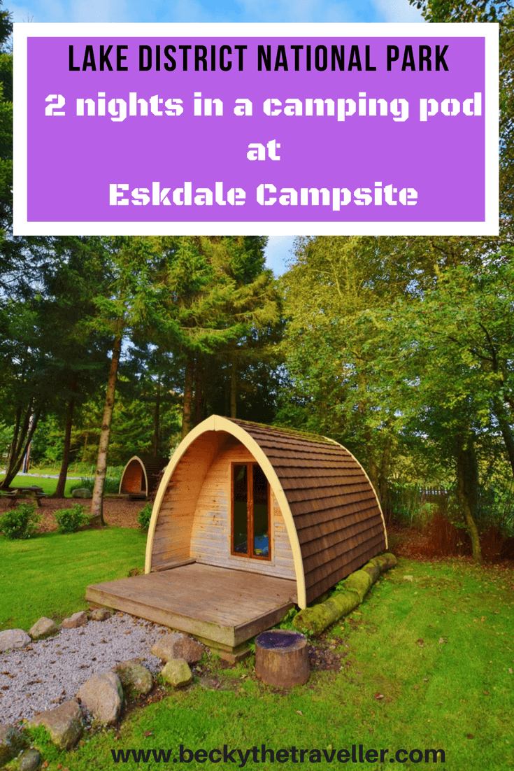 Eskdale campsite in the Lake District National Park in the UK. Camping pod review. A great base if you are planning to climb Scafell Pike. Read about my experience in the camping pod at Eskdale campsite. A full review plus hints and tips for your outdoor adventure. If you're visiting this National Park on a budget this is a great place to stay and no tent to put up! United Kingdom | Boot | Outdoors | Mountains | England