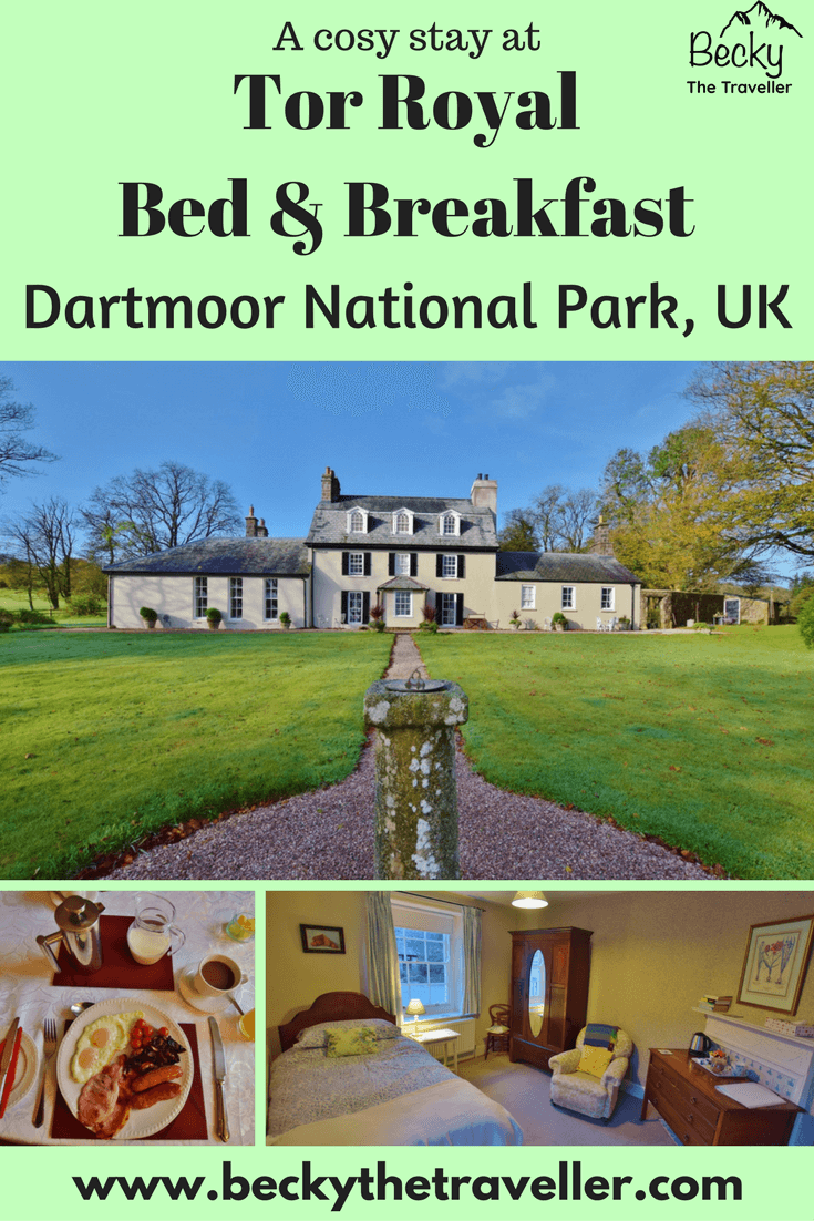 Tor Royal Bed & Breakfast Dartmoor National Park. A wonderful B&B in the heart of the Dartmoor in the town of Princetown. With 5 bedrooms this B&B is a great place to stay during your time exploring the moors. And it's close to the main visitor centre which has lots of information.