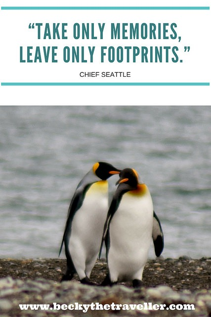 Travel quotes - Take only memories, leave only footprints