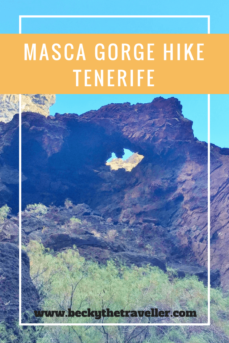Tenerife hiking adventure: Masca Gorge Walk. Do you want to do some hiking in Tenerife? Masca Gorge Walk in Tenerife is one of the most popular walks in Tenerife. A stunning day walk and a chance to stretch your legs walking the beautiful route from Masca Village. Read here more about Masca Gorge Walk, including top tips for this walk in Tenerife. Walks in Tenerife | Hiking Tenerife | Day hike in Tenerife | Walking Tenerife