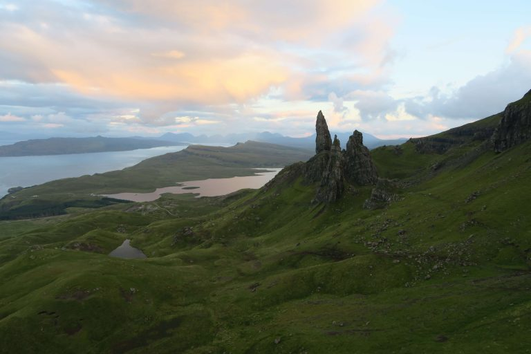 Hiking UK - a day hike at Old Man of Storr, UK