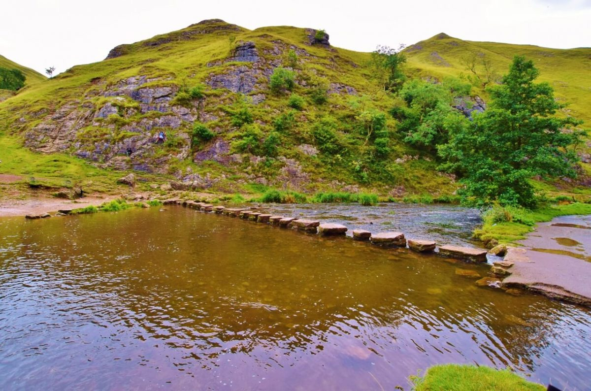 National Get Outside Day Hiking UK - a day hike at Dovedale Walk Peak District, UK