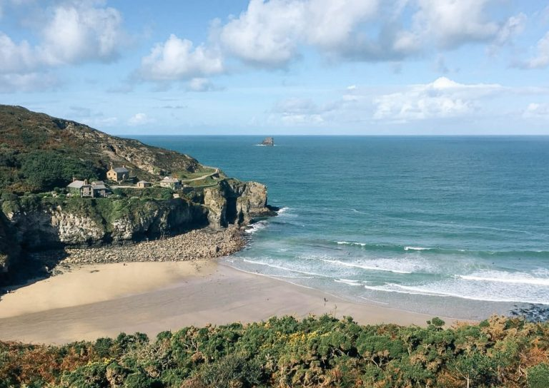 Hiking UK - a day hike at St Agnes Cornwall, England