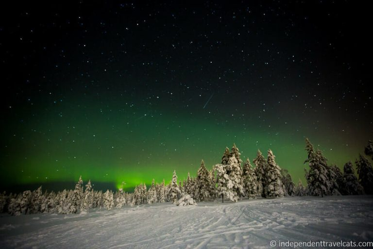 Best place to see the Northern Lights - Syote National Park in Finland
