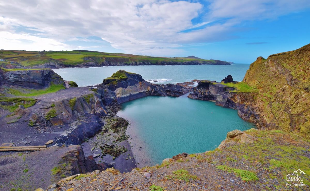 Porthgain to Abereiddi walk visiting the Blue Lagoon on the Pembrokeshire Coast