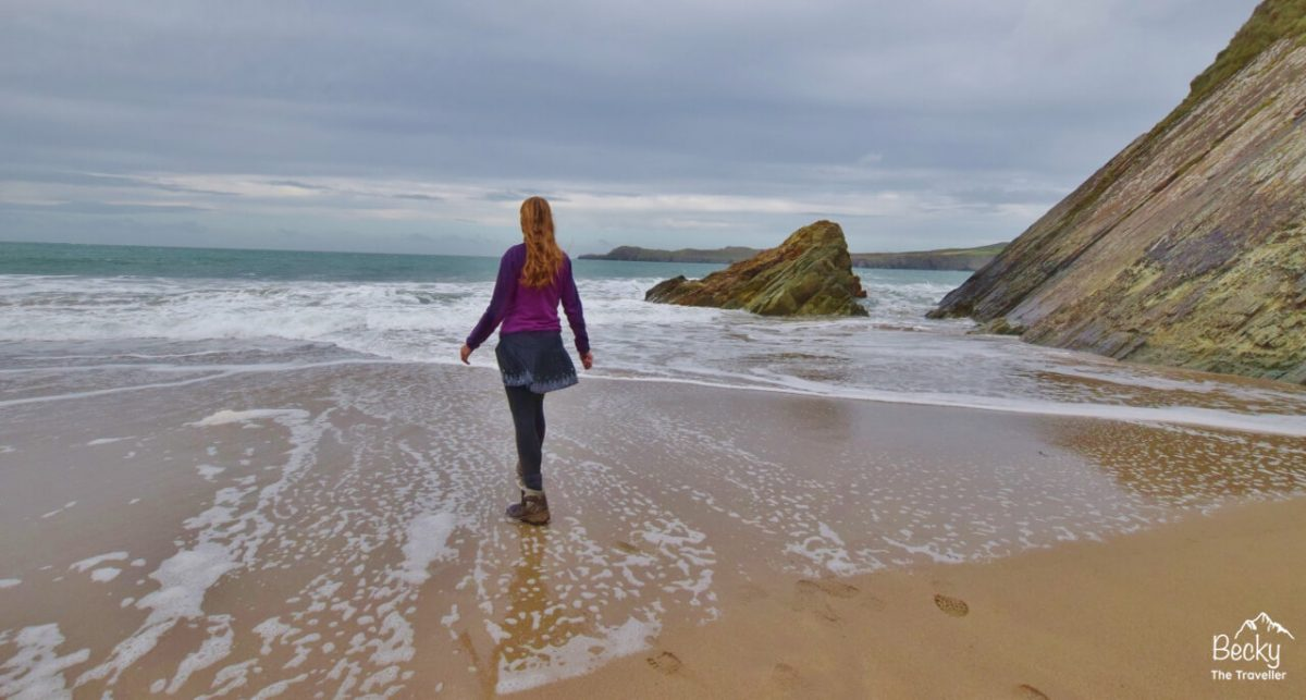 Playing in the sea on the Pembrokeshire Coast