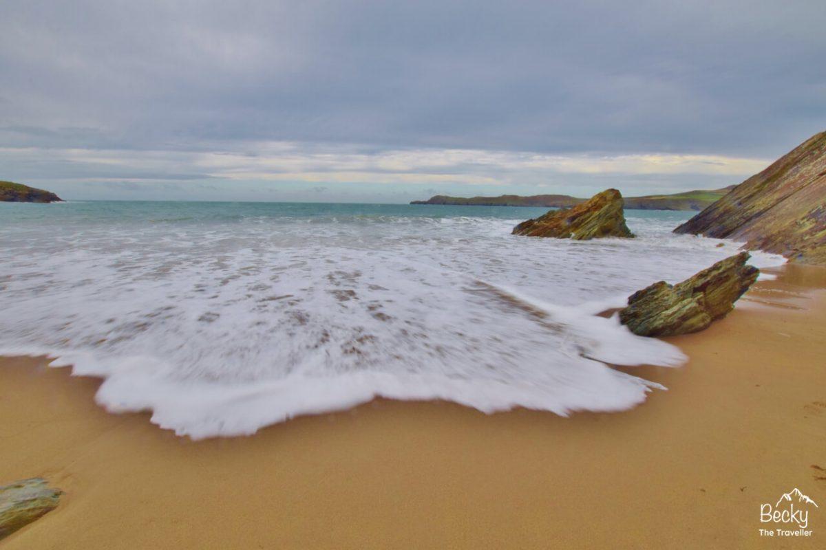 Waves crashing on the Pembrokeshire Coast