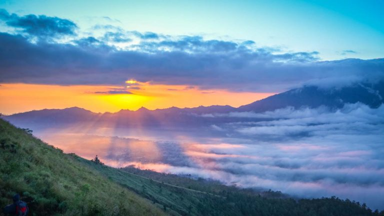 Mount Batur hiking trail in Bali Indonesia