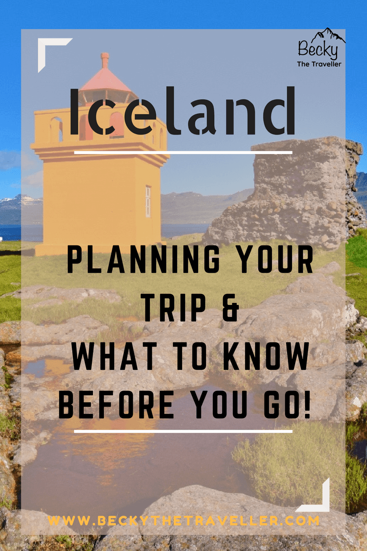 Planning a trip to Iceland - bright orange lighthouse on the east coast
