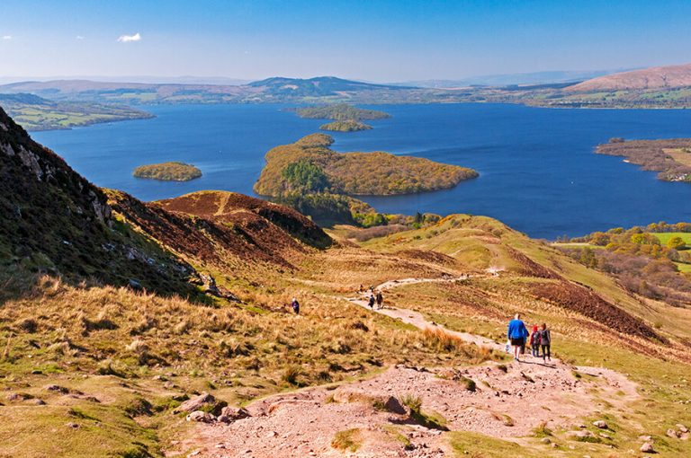 West Highland Way hike in Scotland - Conic Hill