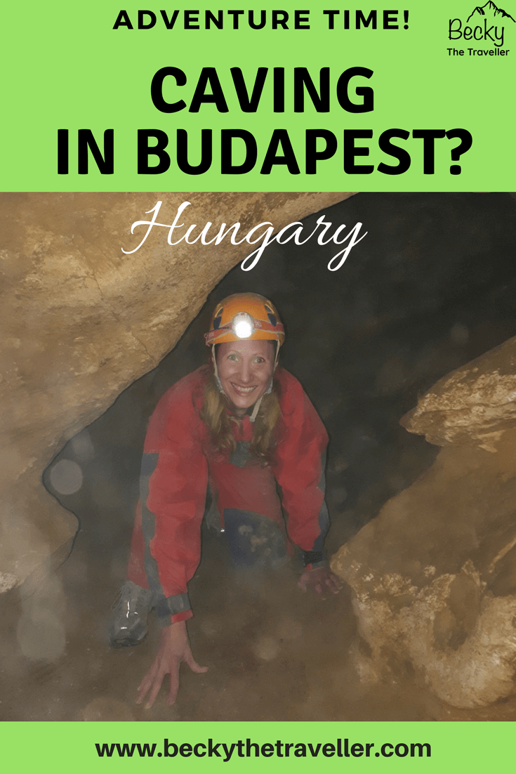 caving in Budapest - Becky the Traveller in the cave