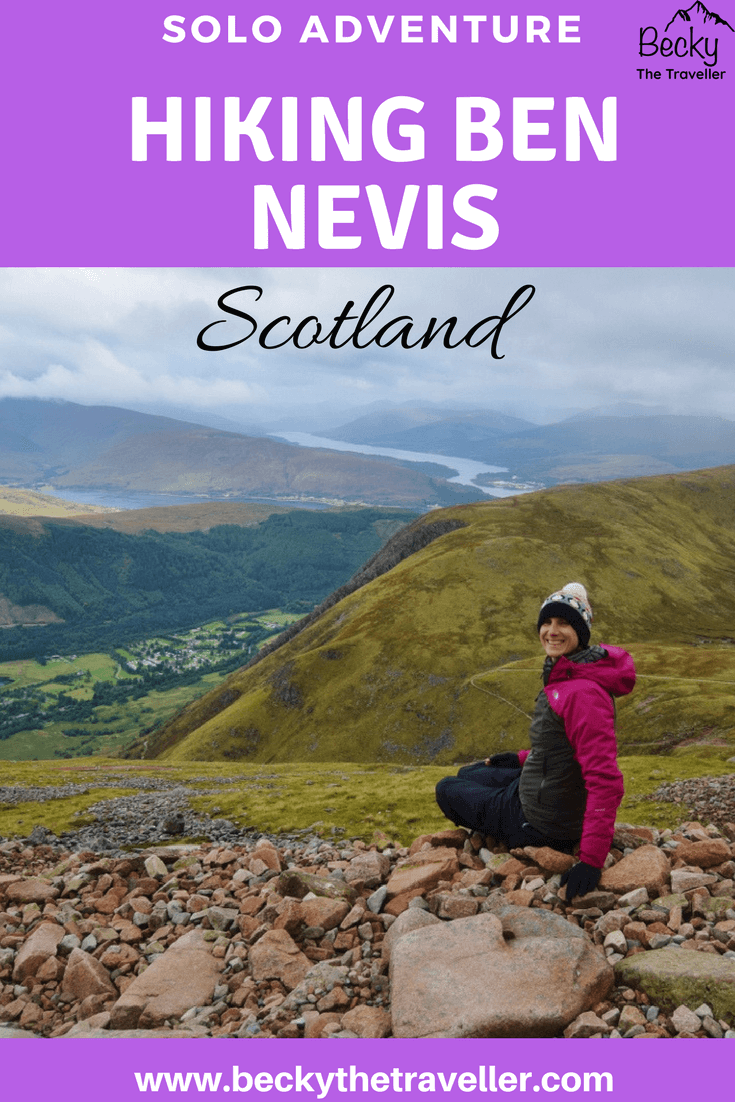Hiking Ben Nevis - views on the walk down