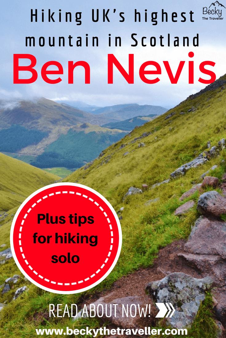 Climbing Ben Nevis solo in Scotland