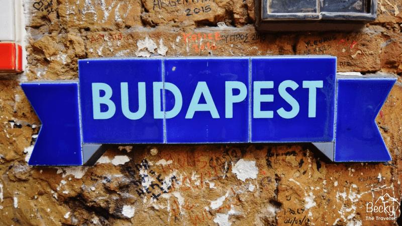 Budapest sign - Caving adventure