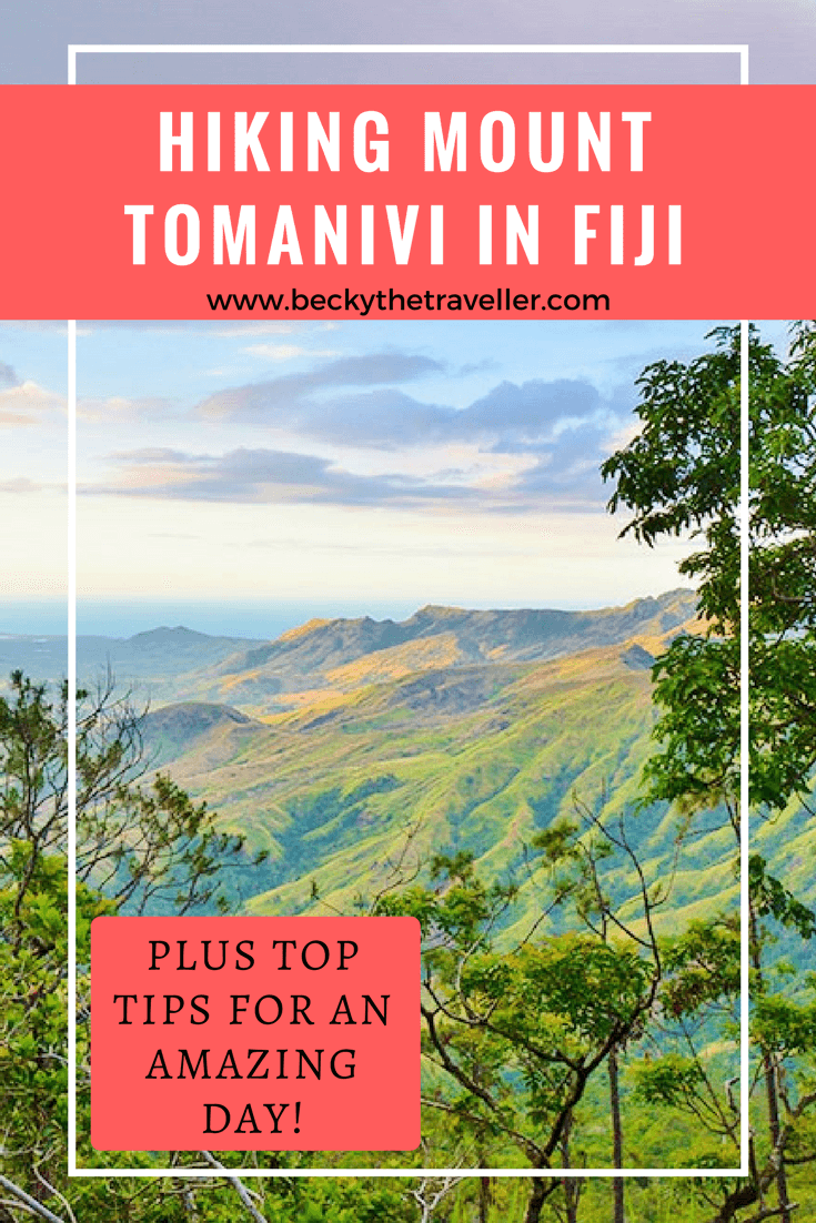 Hiking Mount Tomanivi in Fiji