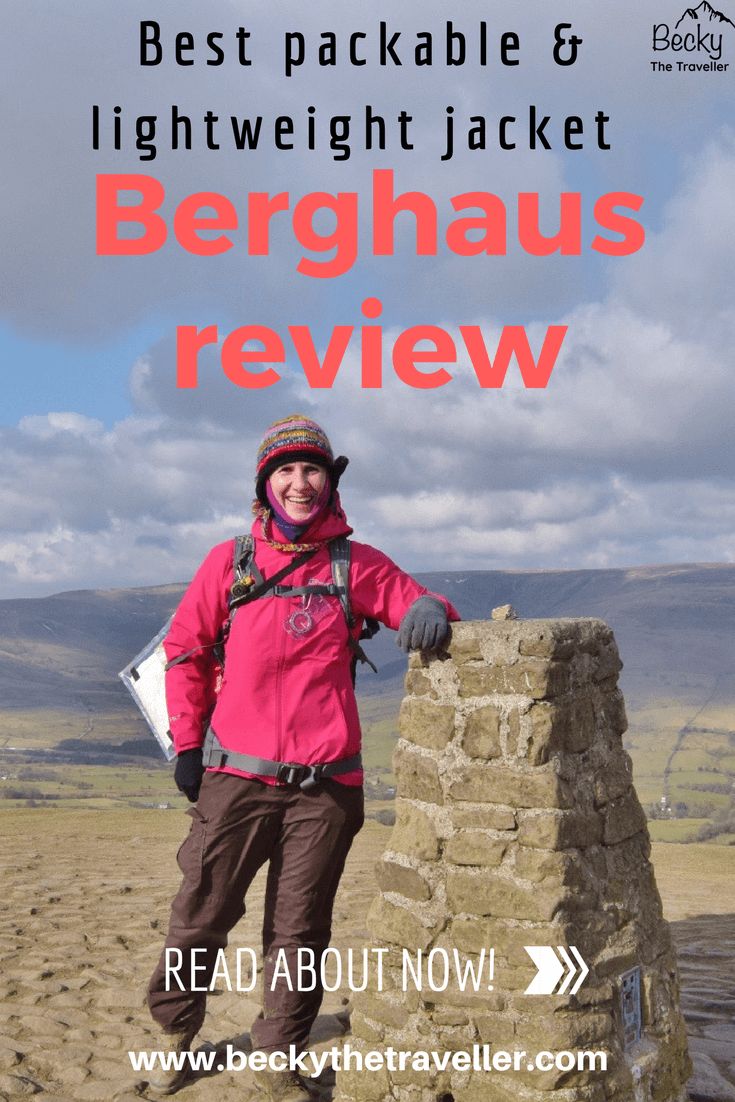 Mam Tor summit wearing Berghaus Paclite 2.0 jacket review