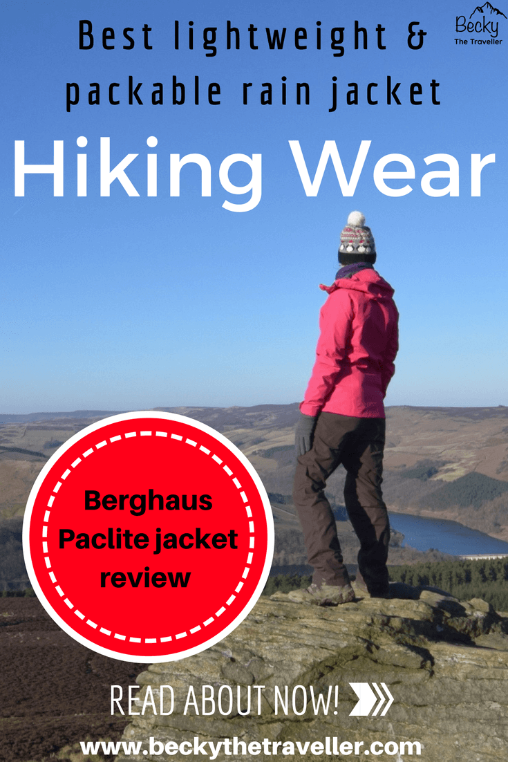 Win Hill wearing Berghaus Paclite 2.0 jacket review