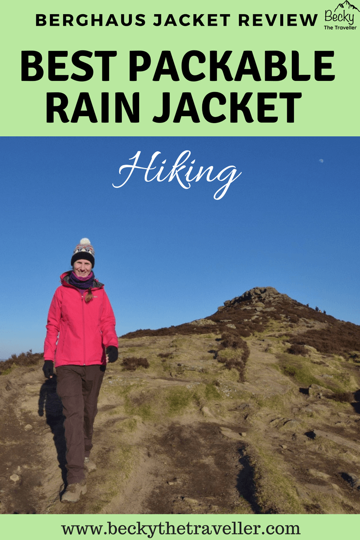 On way down from Win Hill wearing Berghaus Paclite jacket review