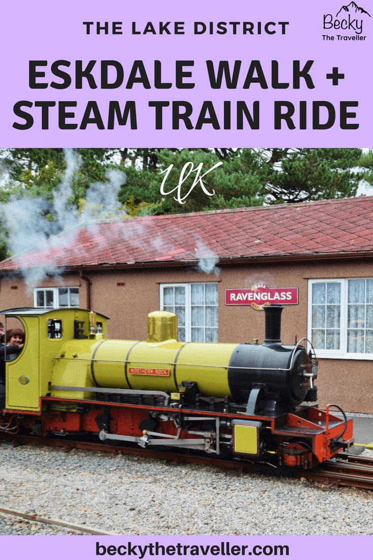 Eskdale walks - Steam train at Ravenglass railway station