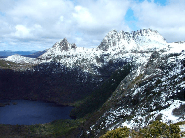 Cradle Mountain with Snow - Tasmania Overland Track Hiking Trip