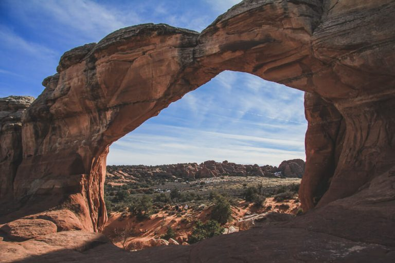 Utah hiking trails - Broken Arch
