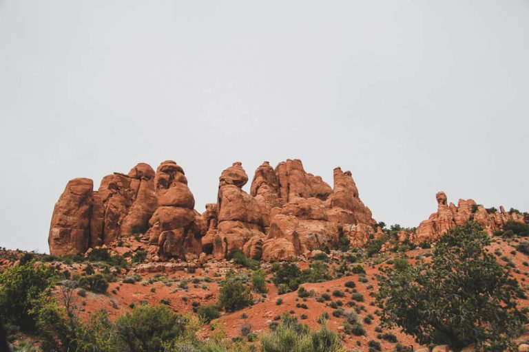 Utah hiking trails - Fiery Furnace area