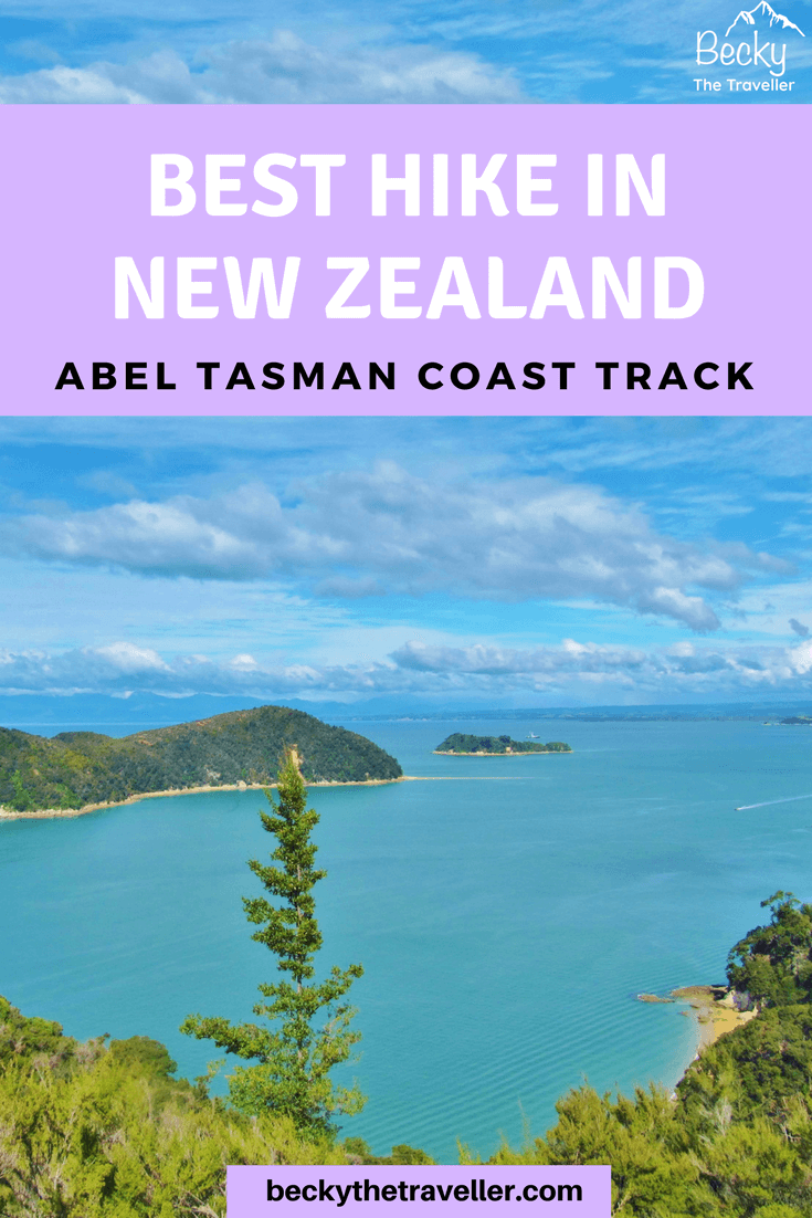 Hiking Abel Tasman Coast Track in New Zealand