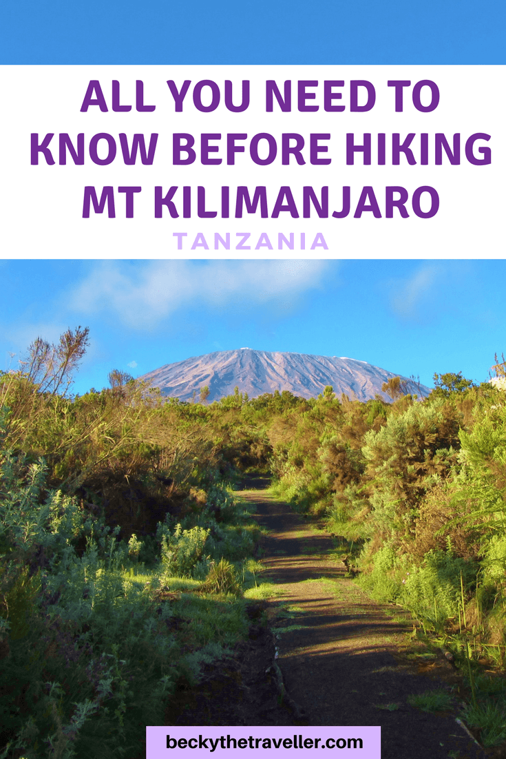 Preparing to climb Mt Kilimanjaro