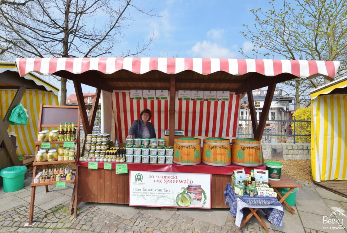 Spreewald pickle market stall