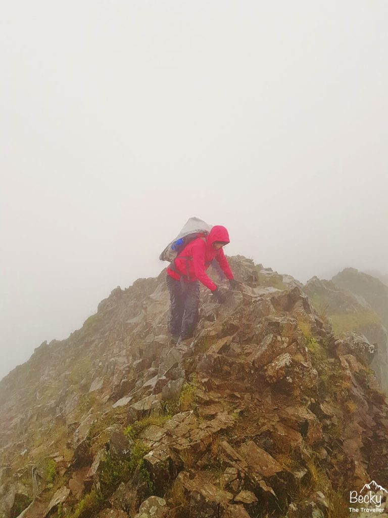 Crib Goch on the Welsh 3000s challenge