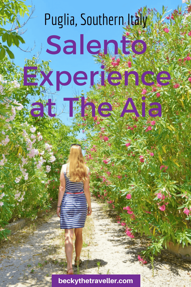 Salento Experience at The Aia, Nardo, Puglia, Italy