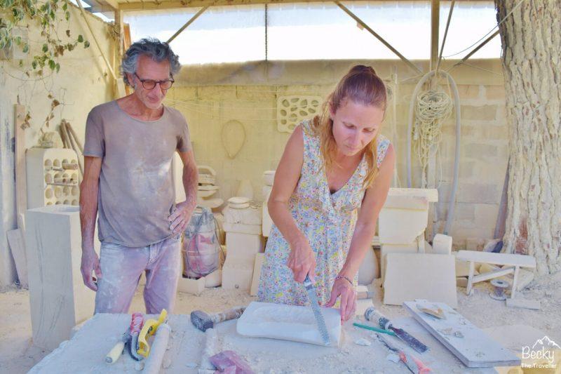 Sculpturing in Lecce, Puglia