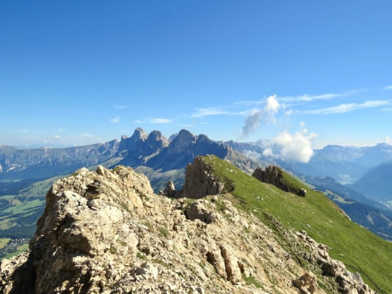 Dolomites hiking to the peak of Latemar Mountain - best places to hike in Europe