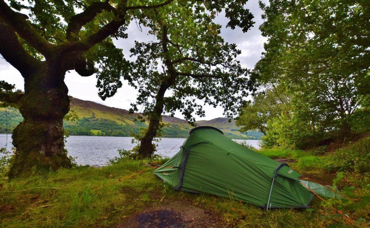 Vango Banshee 200 review - Lake Earn - wild camping