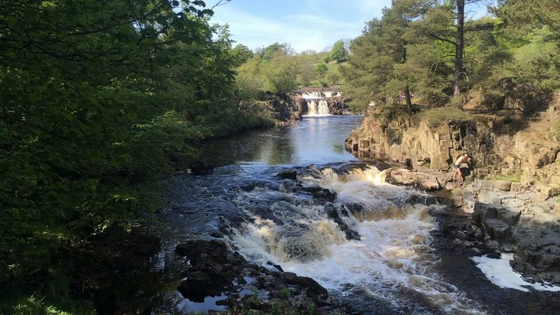 Low Force, Teesdale Way long distance hike UK